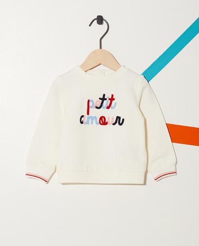 Sweater mit buntem Schriftzug